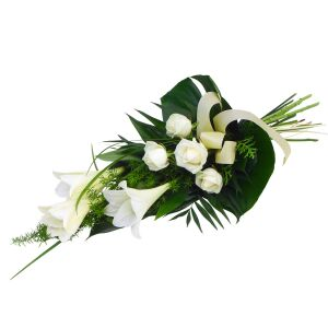 White-green funeral bouquet